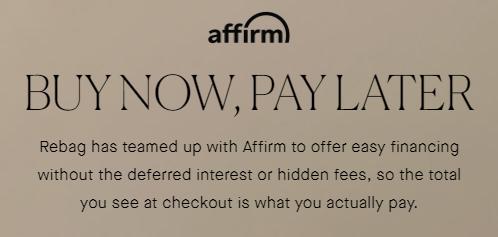 Rebag Affirm