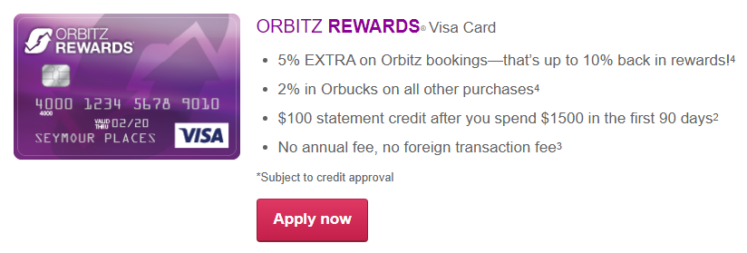 ORBITZ REWARDS® Visa Card