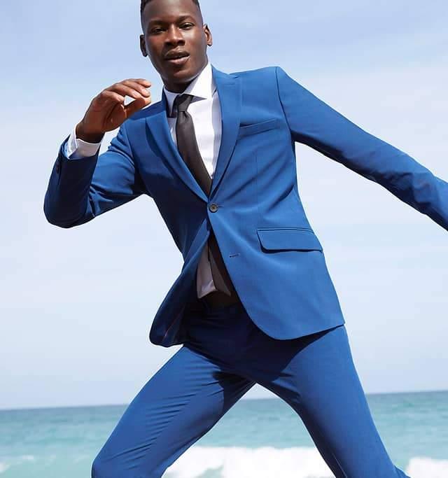 Perry Ellis Blue Suit