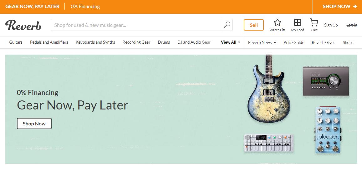 reverb website