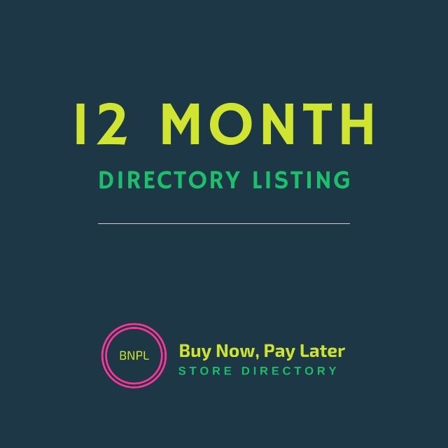1 year directory listing Buy Now Pay Later Store